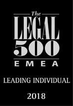 EMEA award - Leading Individual 2018